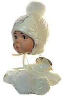 Зимний набор - шапка и варежки Венди Dembo для девочки