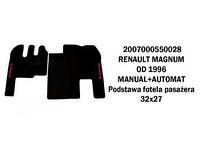 Коврик велюр RENAULT MAGNUM от 96 manual+automat основа стільця пассажира 32х27/3010