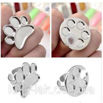 Кольцо палитра для смешивания красок для росписи ногтей и дизайна, фото 1