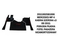 Коврик велюр MERCEDES MP IV от 2011 широкая кабина x3  плоский пол сидение пассажира не амрт./3005