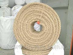 Канат джутовий діаметр 20 мм трехпрядный МС