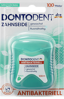 Зубная нить Dontodent антибактериальная, 100 м
