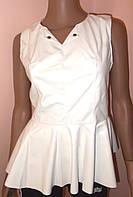 Блуза с баской кожзам размер 46