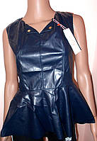 Блуза с баской кожзам размер 44