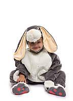 Костюм Зайчика для малыша серый