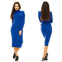 Женское ангоровое платье ниже колен , фото 1