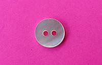 Пуговица рубашечная перламутровая белая, 10 мм диаметр