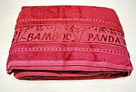 Бамбуковая махровая простынь 200x220 Panda bordo