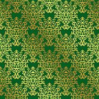 Упаковочная бумага  для подарков с фольгой зеленая 707х1000 мм