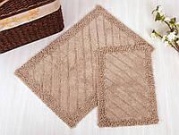 Набор ковриков для ванной Irya - Doly beige бежевый 60*90+40*60