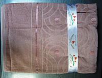 Бамбуковая махровая простынь 160x220 сиреневый