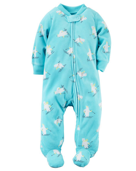 Человечек теплый флисовый на молнии Carters на новорожденного до 55 см