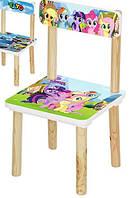 Детский деревянный стульчик my little pony