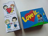 Коробочка Love is 25 любовных свёртков