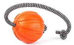Мячик ЛАЙКЕР Корд на шнуре, диаметр 7 см