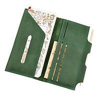 Тревел-кейс из кожи для путешествий зеленого цвета 3.0  Изумруд с мандалой