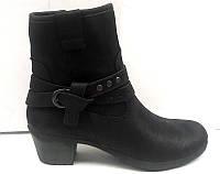 Ботинки стильные весна-осень кожаные на низком каблуке Uk0335