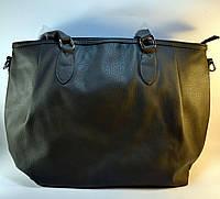 Серая вместительная женская сумочка ТН-2006