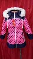 Зимняя куртка-пальто для девочек р.86-104, очень теплая зимняя куртка-пальто на овчине