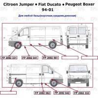 Порог для Peugeot Boxer '94-06, цинк, левый (FPS)
