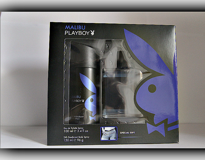 Набiр подарунковий Playboy Malibu (туалетна вода дезодорант спортивні труси)