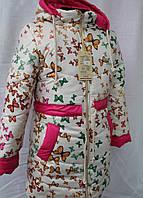 Пальто зимнее для девочек р.128-146, очень теплое зимнее пальто с подстежкой овчинка