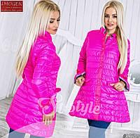 Женская куртка-пальто Малинка