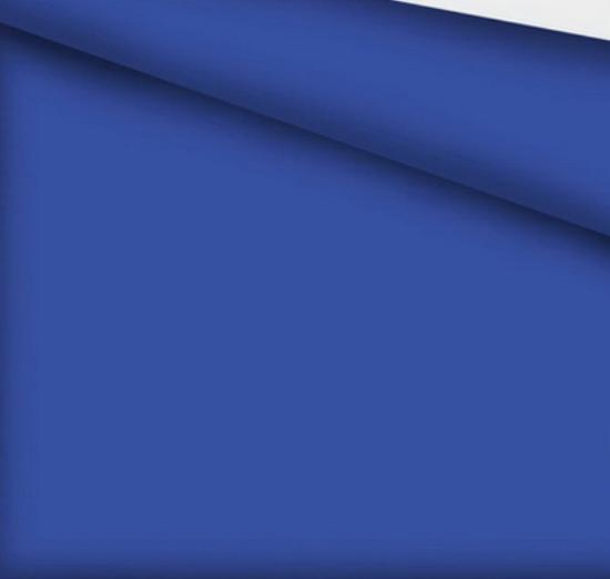 Хлопковая ткань польская синяя однотонная (плот. 135 г/м.кв)
