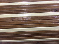 Бамбуковые обои темно-светлые 8 мм, глянцевые,ширина 250 см.