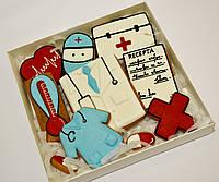 Новогодний корпоративный подарочный набор доктору