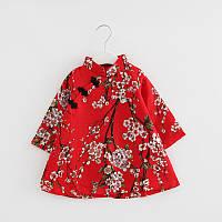 Атласное платье в китайском стиле