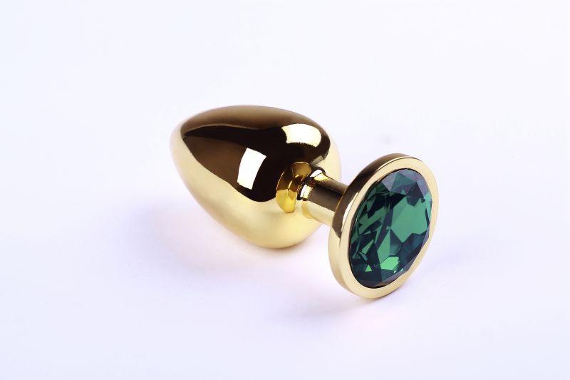 SLash - Анальная пробка,Gold Emerald,L