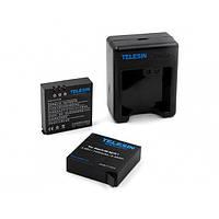 Аккумуляторы + зарядка для камер XIAOMI YI 2 4K TELESIN