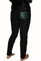 Леггинсы стеганые с кожаными вставками  №6621 зеленые  Арт: 136052 опт. : 299.00 грн.  розн.: 379.00 грн., фото 2