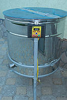 Медогонка радиальная 20/40 с электроприводом с крышкой и подставкой, нержавейка (марка стали 430) кран н\ж