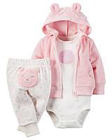 Детский махровый комплект для девочки  6  месяцев