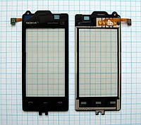 Тачскрин сенсорное стекло для Nokia 5530 XpressMusic black