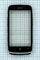Тачскрин сенсорное стекло для Nokia Lumia 610 with frame black