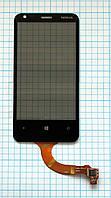 Тачскрин сенсорное стекло для Nokia Lumia 620 with frame rev. 3 black