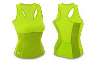 Майка для фитнеса (похудения) HOT SHAPERS (М, салатовый)