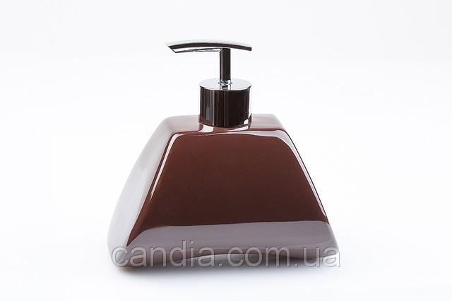 Дозатор жидкого мыла настольный Акик цвет кофе