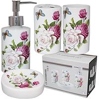 Набор аксессуаров для ванной комнаты Розы, 4 пр