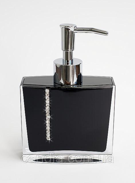Дозатор для жидкого мыла Рома цвет черный