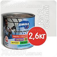 Смайл Экспресс 3в1 Гладкая-Белый П/МАТ № 12 Грунт эмаль по ржавчине 2,6кг