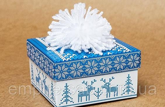 """Коробка большая """"Шапка"""" новогодняя"""