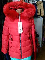 Зимняя стеганая куртка с эко мехом 4 цвета
