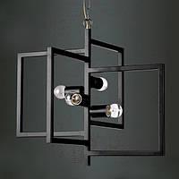 Подвесной светильник (Люстра) [ LOFT Frame ] (4 Lamp Edisons)