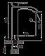 Смеситель для раковины высокий однорычажный Imprese Vyskov 05340-H, фото 2