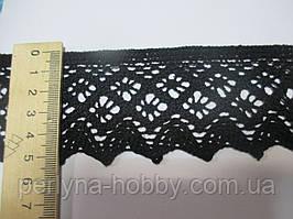 Мереживо натуральне чорне 5,5 см