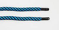 Шнурки круглые 7мм т.синий+бирюза, фото 1